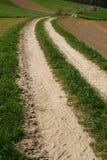 след сельской местности стоковое изображение