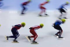 след скорости чемпионата европейский короткий катаясь на коньках Стоковое Изображение RF