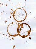 след чашки Стоковое Изображение RF