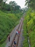 след ktm железнодорожный Стоковые Фотографии RF