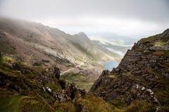 След Pyg, Snowdonia, Уэльс Стоковое фото RF
