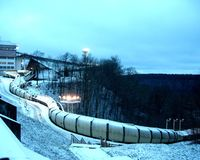 след sigulda bobsleigh Стоковое Изображение RF