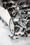 след snowmobile Стоковые Изображения