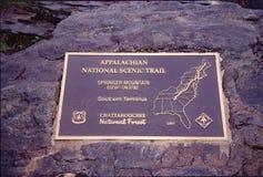 След Tnational appalachian сценарный стоковые изображения rf