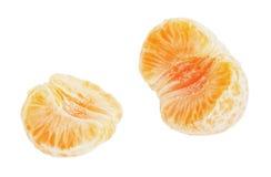 Слезли мандарин изолированный на белой предпосылке Стоковые Изображения