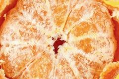 слезл свежий конец-вверх tangerine ясно видимая текстура плодоовощ стоковые изображения rf