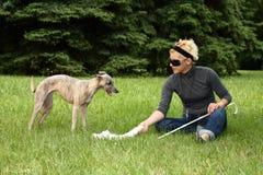 слепая женщина Стоковые Изображения RF