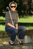 слепая женщина Стоковые Фотографии RF