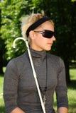 слепая женщина Стоковое Фото