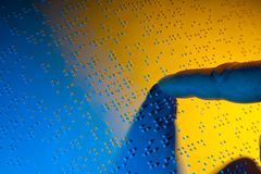 слепая книга braille Стоковое Изображение