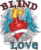 слепая рубашка t влюбленности конструкции Стоковые Изображения