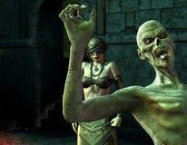 слепое зомби женщины dungeon Стоковое Изображение RF