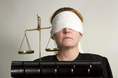 Слепое правосудие стоковое фото rf