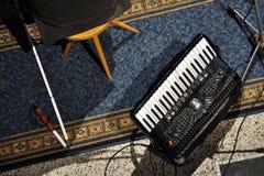 слепой музыкант стоковое изображение