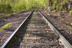 след железной дороги сценарный Стоковое Изображение RF