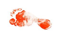 след ноги младенца Стоковое Фото