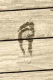 след ноги Стоковое Изображение RF