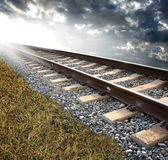 следы железной дороги Стоковое фото RF