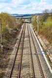 Сливать железнодорожные пути стоковая фотография rf