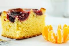 слива части торта Стоковое Изображение