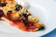 слива cream расстегая завтрака Стоковое Изображение