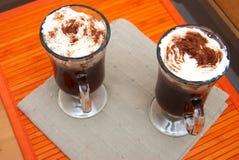 сливк кофе придает форму чашки 2 Стоковое Изображение RF
