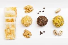 сливк сыра шариков закуски Стоковое Фото