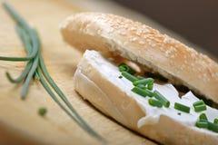сливк сыра bagel Стоковая Фотография RF