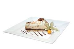 сливк шоколада карамельки торта Стоковые Изображения