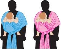 слинг младенца Иллюстрация штока