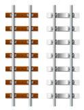 слипер железной дороги цемента деревянный Стоковые Изображения RF