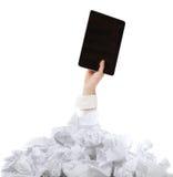Слишком много обработка документов. Принципиальная схема Стоковое Изображение