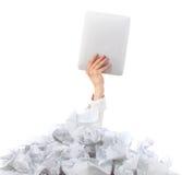 Слишком много обработка документов. Принципиальная схема Стоковые Фото