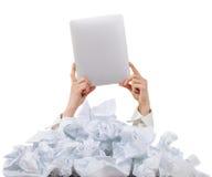 Слишком много обработка документов. Принципиальная схема Стоковые Изображения RF