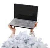 Слишком много обработка документов. Принципиальная схема Стоковое фото RF