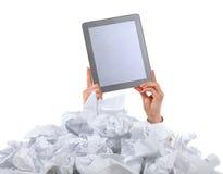 Слишком много обработка документов. Принципиальная схема Стоковое Изображение RF