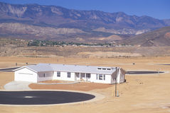 Слободское развитие в пустыне Стоковые Изображения RF