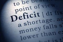 Словарное определение дефицита слова стоковая фотография