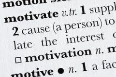 словарь defin мотирует слово Стоковые Фотографии RF