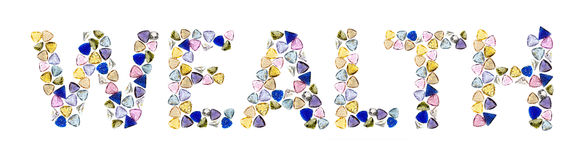 слова богатства gemstones Стоковая Фотография
