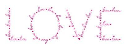 Слова влюбленности в слове влюбленности. Стоковое Фото