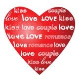 слова влюбленности сердца Стоковое фото RF