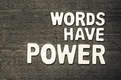 Слова имеют силу Стоковые Фотографии RF