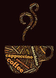 слова кофейной чашки бесплатная иллюстрация