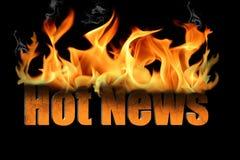 слова новости пламени горячие Стоковые Изображения