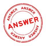 Слова ответа Grunge избитая фраза красного круглая на белой предпосылке иллюстрация штока