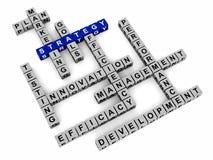 Слова стратегии бизнеса иллюстрация вектора