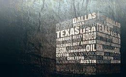 Слова Техаса заволакивают иллюстрация вектора