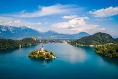 Словения - кровоточенное озеро курорта стоковые изображения rf