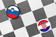 Словения против Хорватии Стоковые Фото